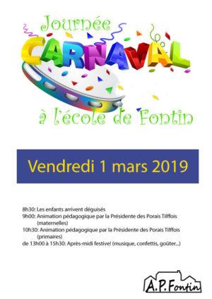 Journée carnaval du 1er mars