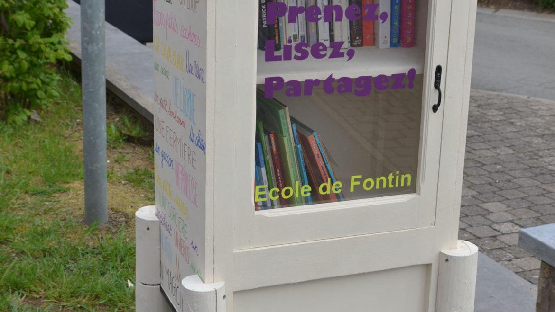 Inauguration de la boîte à livres